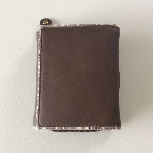 ❤️🌸New Genuine Leather trifold wallet RARE